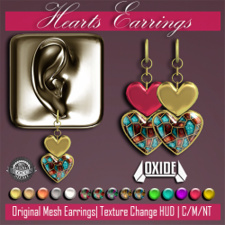 OXIDE Hearts Earrings Ad 1024