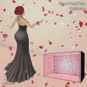 Rose Petal Rain Backdrop - XOXO HopScotch